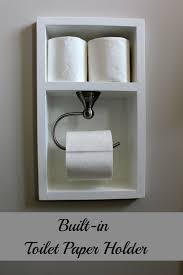 built in toilet paper holder