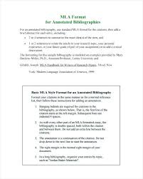 Mla Style Example Essay Annotated Bibliography Template Style Sample