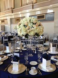 navy blue and gold wedding