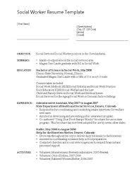 Objective For Social Work Resume Sample Social Work Resume Template Best Of 100 Objective Statement 78