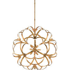 currey company 9000 0259 sappho 9 light 34 inch new gold leaf chandelier ceiling light orb