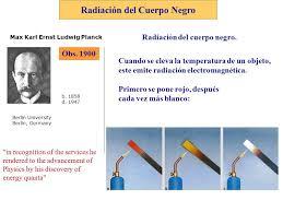 Radiación del Cuerpo Negro Obs Max Karl Ernst Ludwig Planck Berlin  University Berlin, Germany b d Radiación del cuerpo negro. Cuando. - ppt  descargar