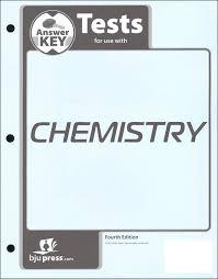 Chemistry Tests Answer Key 4th Edition Bob Jones University