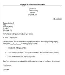 Letter Of Verification Of Employment Sample Salary Confirmation Letter From Employer Proof Of Employment