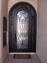 image of wrought iron front doors home