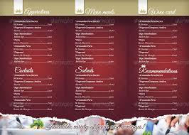 Togo Menu Templates 40 Psd Indesign Food Menu Templates For Restaurants