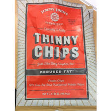 Calories In Thinny Chips Potato Chips From Jimmy Johns