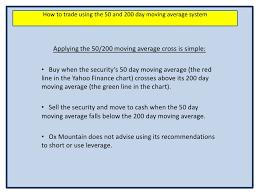 Yahoo Finance Moving Average Charts Tracking Moving Averages On Yahoo Finance