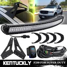 2001 Ford F250 Light Bar Details About 54inch 312w Led Light Bar Upper Windshield Mount Kits For 99 15 Ford F250 F350