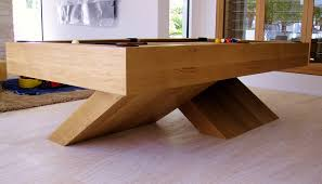 contemporary four leg pool table