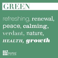 Meaning of the color #green: refreshing, renewal, peace, calming, verdant