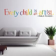 Chaque Enfant Est Un Artiste Sticker Mural Vinyle Citation Wall Art Rrmovabel Pour Chambre D Enfants Et Décoration Chambre D Enfant Autocollant