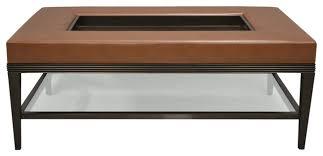 carlisle coffee table ottoman dark