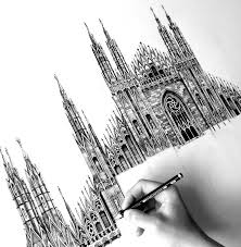 architectural drawings of famous buildings. Brilliant Drawings Milan Cathedral FotosolutionPencilDrawingPhotorealisticArchitectural DrawingofFamous Throughout Architectural Drawings Of Famous Buildings