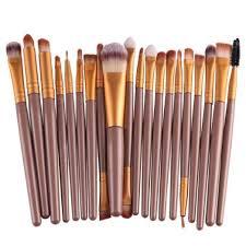 susenstone 20 piece makeup brush set in gold