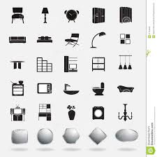 Icon Design Furniture Vector Furniture Icons Stock Vector Illustration Of Desk