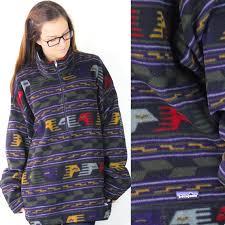 Patagonia Patterned Fleece Classy Vintage Retro Patagonia Aztec Boho Navajo Patterned Fleece