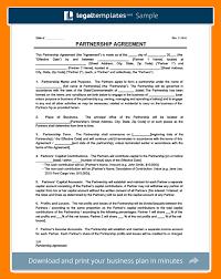 Sample Partnership Agreement Template - Mandegar.info