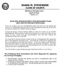 Pdf Reinstatement Online Ohio Fillable Bmv Affidavit-for-mechanics-lien-ohio Templates Submit com To In