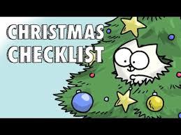 Simons Cat Christmas Checklist Youtube