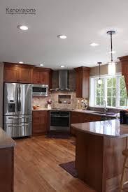 peninsula lighting. Full Size Of Grande Peninsula Kitchen Design Medium Brown Flat Cabinet Double Door Stainless Steel Refrigerator Lighting