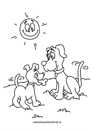 Kleurplaat Honden Kleurplaat Bot Dieren