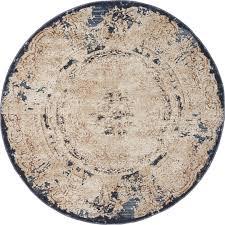 unique loom 4 x 4 cau round rug