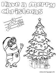 Minions Coloring Despicable Me Minion Pages Christmas Littledelhisfus