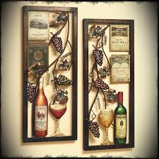 breathtaking glass wine and bottle patterns iron large wall art for decorate home bar wall decors on wine bar wall art with breathtaking glass wine and bottle patterns iron large wall art for