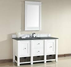 single white bathroom vanities. Abstron 60 Inch White Single Sink Bathroom Vanity Optional Countertops Vanities I