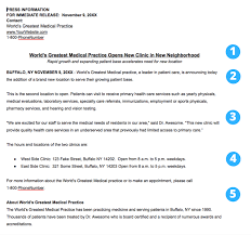 sample press release template what is news worthy for a healthcare practice press release