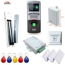 2018 fingerprint rfid access control system diy kit glass door gate opener set electronic magnetic lock id card power supply on from welture