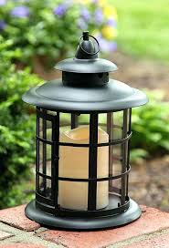 battery operated candle lanterns laurel creek traditional black metal lantern with battery operated