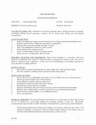 Grocery Store Cashier Resume Lovely File Clerk Resume Sample