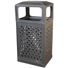 darlee cast aluminum patio trash receptacle