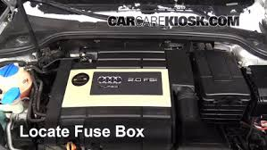 replace a fuse 2006 2013 audi a3 2007 audi a3 2 0l 4 cyl turbo locate engine fuse box and remove cover