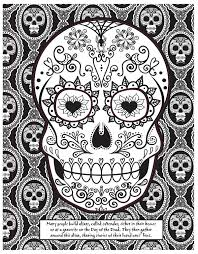 I just looked up makeup for the day of the dead sugar skull. Day Of The Dead Skull Coloring Page Craftfoxes