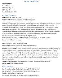 Medicinska Sestra Cv Primjer Zivotopis Magazin Info
