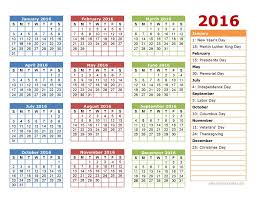 2014 One Page Calendar Template 2016 Calendars Excel Templates Three