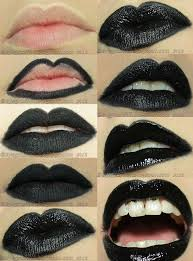 how to make perfect black lips diy