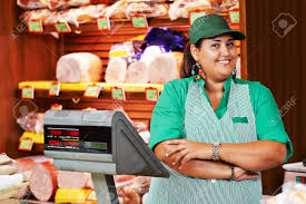 supermarket worker images stock pictures royalty supermarket worker portrait of s person worker or assistant seller in supermarket store shop