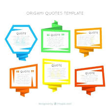 Origami Frames Quotes Template Free Vector Business Quote Small ...