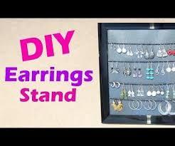 Earring Display Stand Diy DIY Earrings Display Stand DIY Présentoir Pour Boucles D'oreilles 94