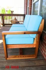 make your own outdoor furniture. how to build a diy modern outdoor sofa make your own furniture d