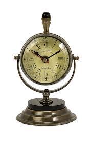 antique brass table clocks for interesting office decor