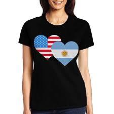 Amazon Com Gamsjm Classic American Argentina Heart Flag