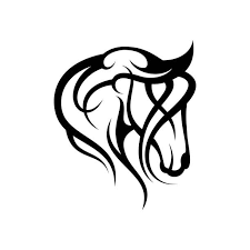 tribal horse head clip art. Beautiful Art Tribal Horse Head Background Clip Art Vector Images U0026 Illustrations Throughout Art