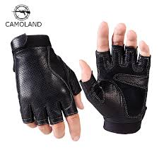2019 2017 sports half finger gloves men faux leather gym weight lifting mittens fingerless tactical gloves men women mittens sports from hando