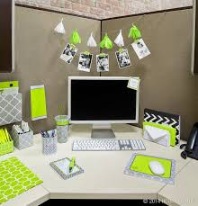 ideas to decorate office cubicle. Brighten Up Your Cubicle With Stylish Office Accessories! Great Idea Photo And Tassel Sting Behind Monitor Ideas To Decorate E