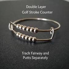 golf gifts for women golf stroke counter score keeper track long short golf shots sterling silver golf accessories gift for golfers